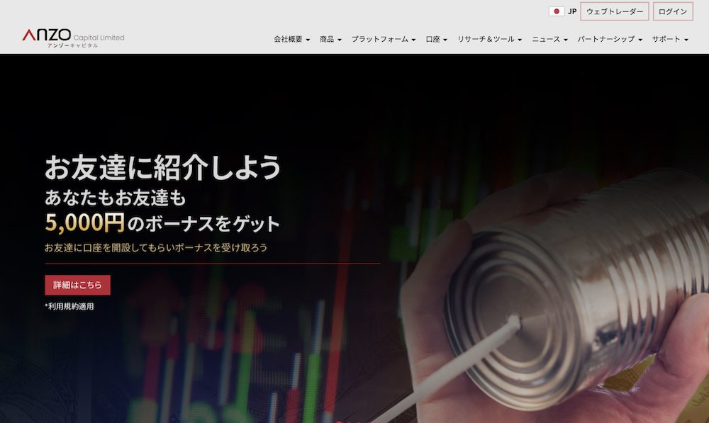 ANZO Capital Limitedのトップ画像